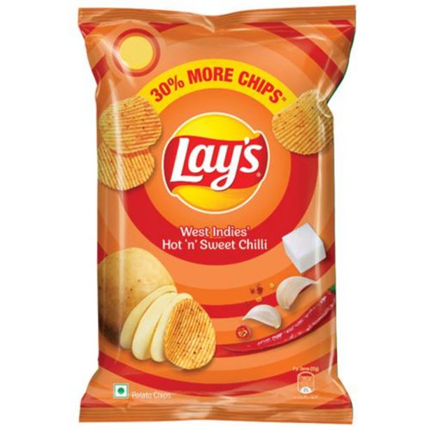 Lays Potato Chips - Hot & Sweet Chilli Flavour, Best Quality offer at ? 9.5