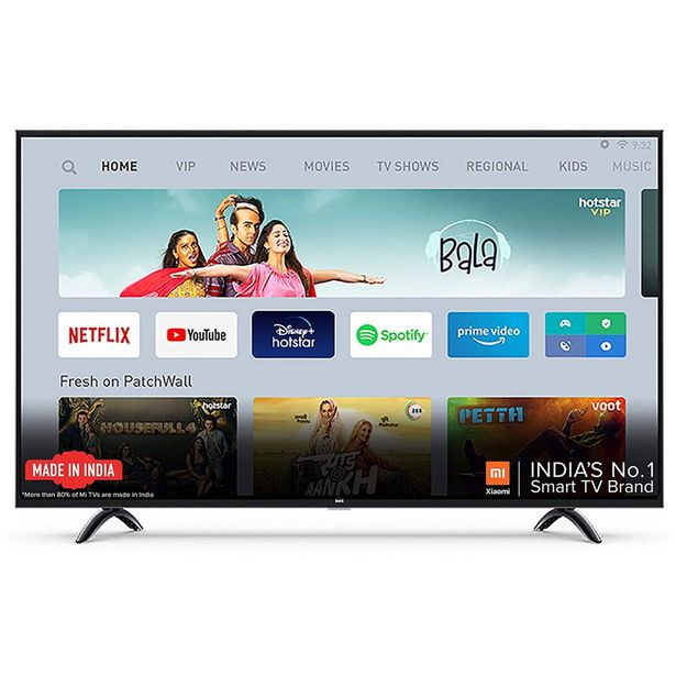 MI 4X ELA4426IN-L55M5-5XIN 55 (138.8cm) 4K HDR Smart Android LED TV offer at ? 40999