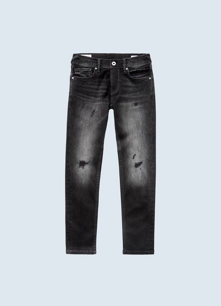 FINLY DLX BLACK SKINNY FIT LOW WAIST JEANS offer at ? 4700