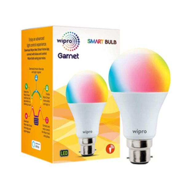 Wipro Garnet 9 Watts B22 NS9001 Smart Light (with 16 million color, Alexa And Google Assistant Supported) offer at ? 699