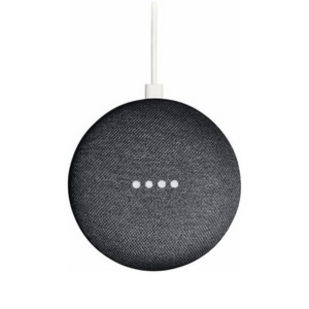 Google Home Mini Smart Voice Activated Speaker, Charcoal offer at ? 2999