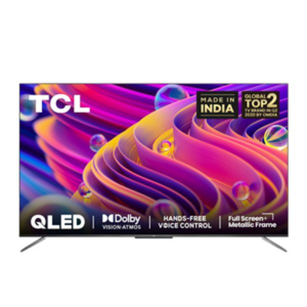 TCL 122.8 cms (55 Inch) Ultra HD (4K)  Android Smart QLED TV 55C715 offer at ? 56990