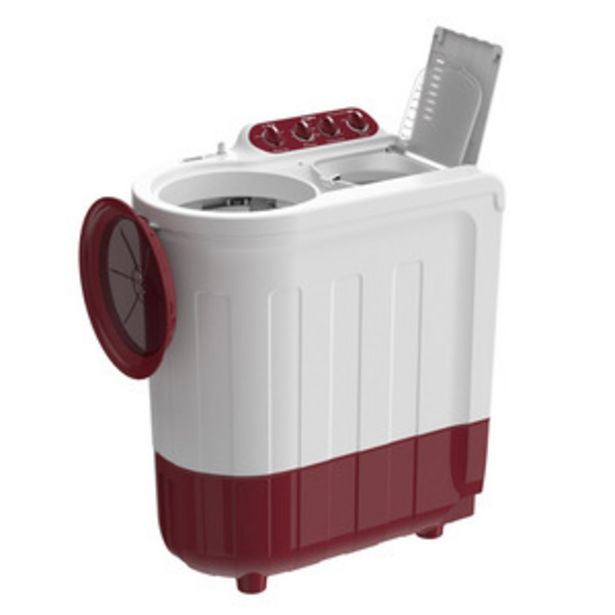 Whirlpool Ace Grand 7.5 Kg Semi Automatic Washing Machine (Supersoak Technology, Coral Red, 5 Years Warranty) offer at ? 10740