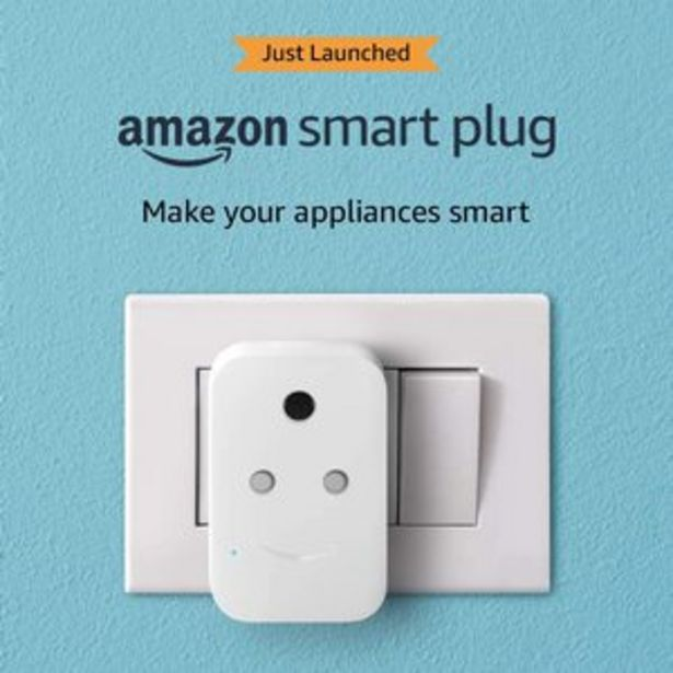 Amazon Smart Plug, 6A, Voice Control Appliances with Alexa offer at ? 1999