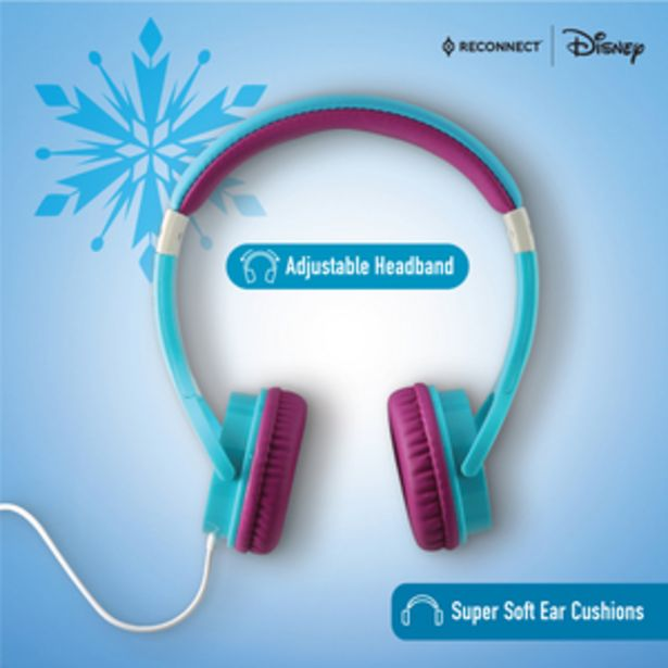 Reconnect Disney Frozen Wired Headphone specially Crafted for children, 40mm speaker driver, Soft sound qulaity, Sensitivity limited upto 85db, compatible with Siri/Alexa/GoogleOk - DWH102 FR offer at ? 799