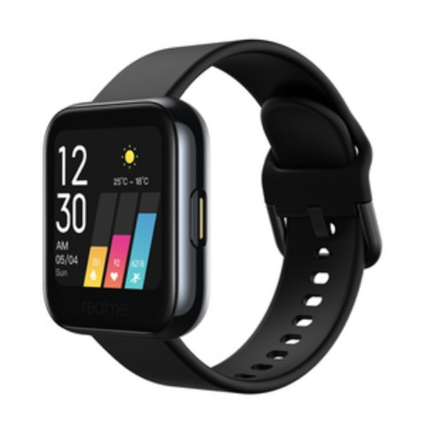 Realme RMA161 Classic Strap Smart Watch, Black, 14 Sports Mode, Water Resistant offer at ? 3999