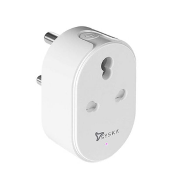 Syska Wi-Fi Smart Plug, for big Appliances (16A) Compatible with Alexa & Google Assistant and power meter offer at ? 1099