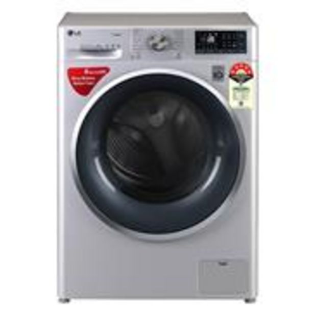 LG FHT1408ZWL Fully Automatic, Front Loaded 8 Kg Washing Machine with Steam (Silver) offer at ? 37790