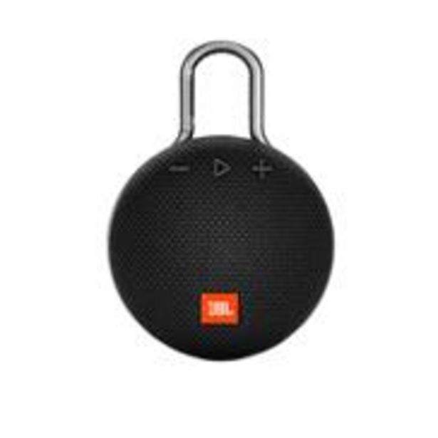 JBL Clip 3 Ultra-Portable Wireless Bluetooth Speaker with Mic (Black) offer at ? 2399