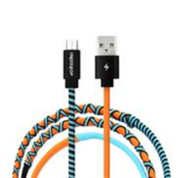 Crossloop Micro USB Fast Charging Cable - Orange & Blue offer at ? 499