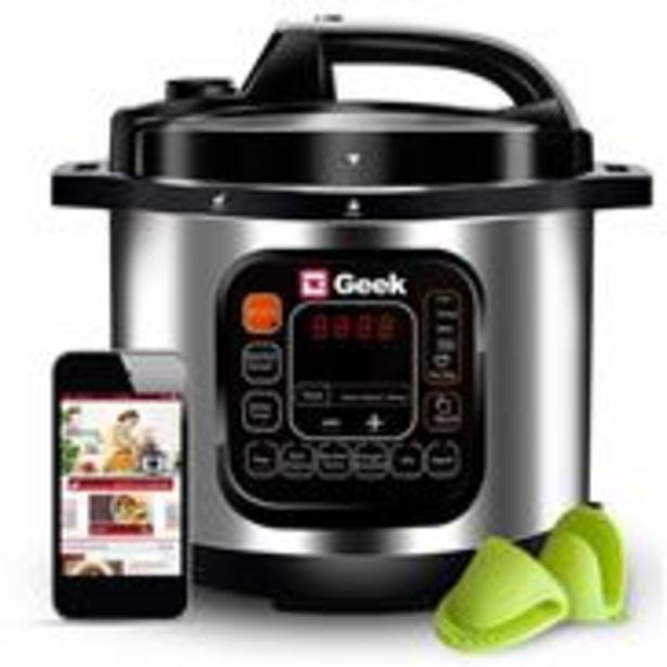 Geek Robocook Automatic 5 Litre Electric Pressure Cooker with 11 in 1 Function, Feather Touch Preset Menu, Stainless Steel Pot, Black offer at ? 5999