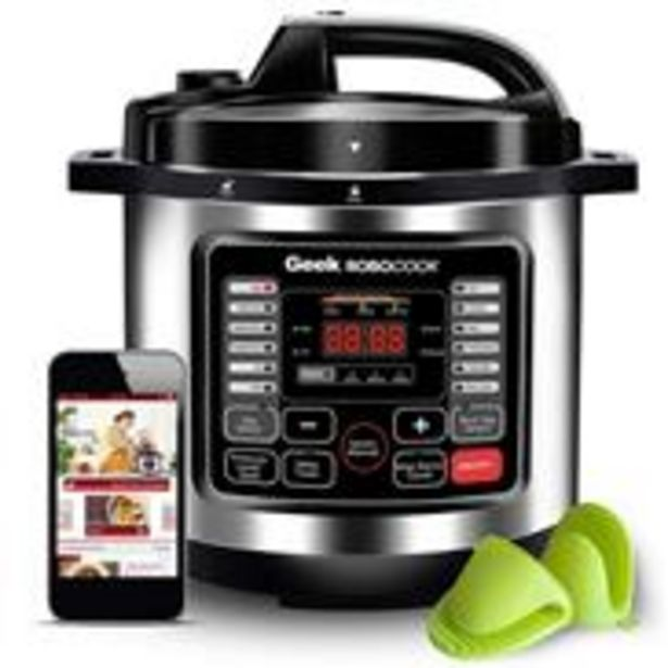Geek Robocook Nuvo Automatic 6 Litre Electric Pressure Cooker with 16 in 1 Function, Feather Touch Preset Menu, Non Stick Pot, Black offer at ? 6499