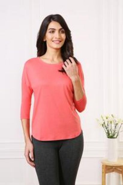 Van Heusen Woman Intimates Modern 3/4Th Sleeve T-Shirt- Candy Coral offer at ? 699