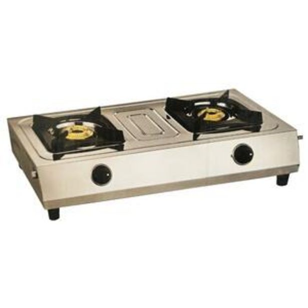 Universal Gas Stove Coral UN-IN820S 2 Burner offer at ? 1399