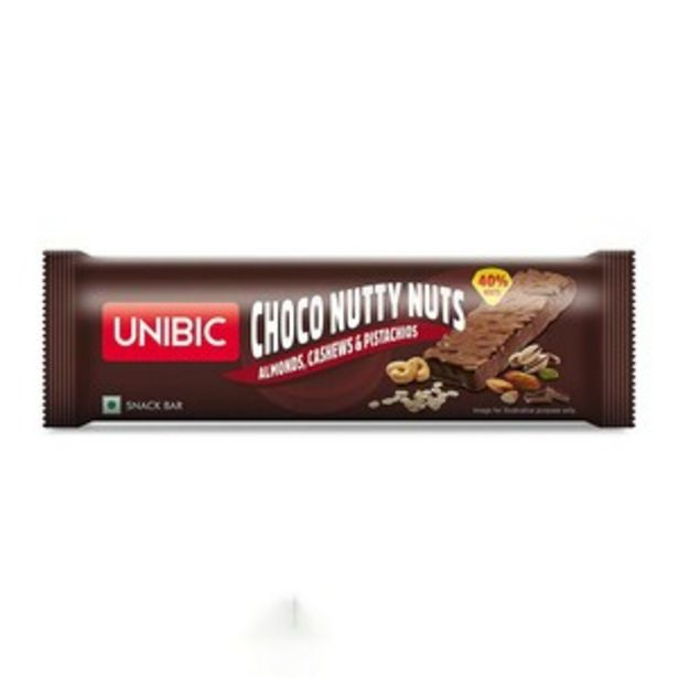 Unibic Snack Bar Choco Nutty Nuts 30gm offer at ? 39