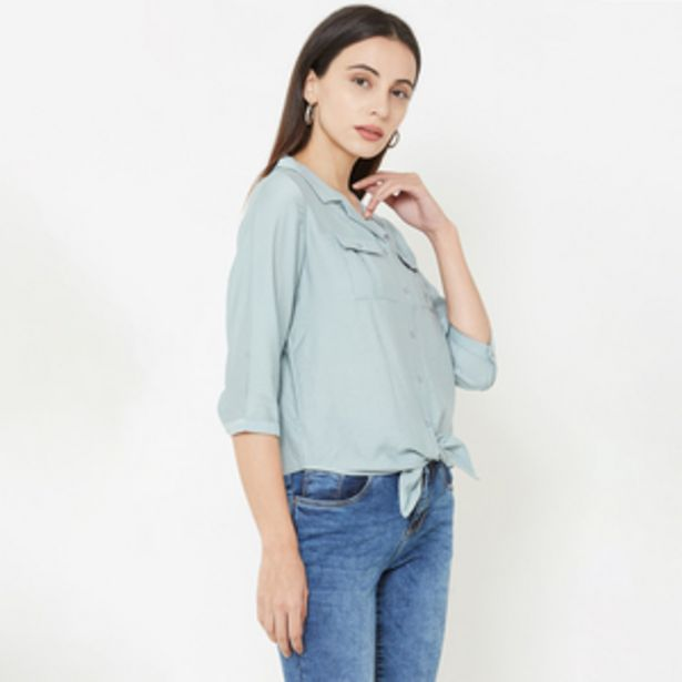 Kraus Jeans Casual Shirt for Women Aqua offer at ? 1299