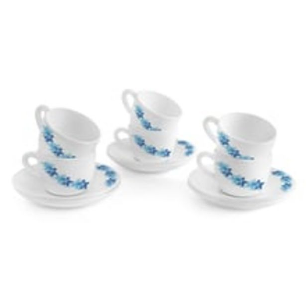 Opalware Cup Saucer Set - Assorted Designs offer at ? 449