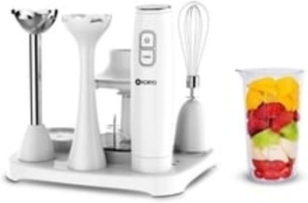 6 in 1 Multipurpose Hand Blender with 6 attachments (KHB9567), One: Stainless Steel Hand Blender, Plastic Hand Blender, 600ml Chopper Jar, 550ml Measuring Cup, Whisker and Smart Lockable Tray offer at ? 1999