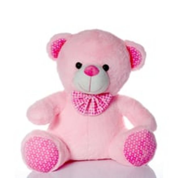 Soft Toy - Sitting Teddy, Pink, 42 cm offer at ? 399