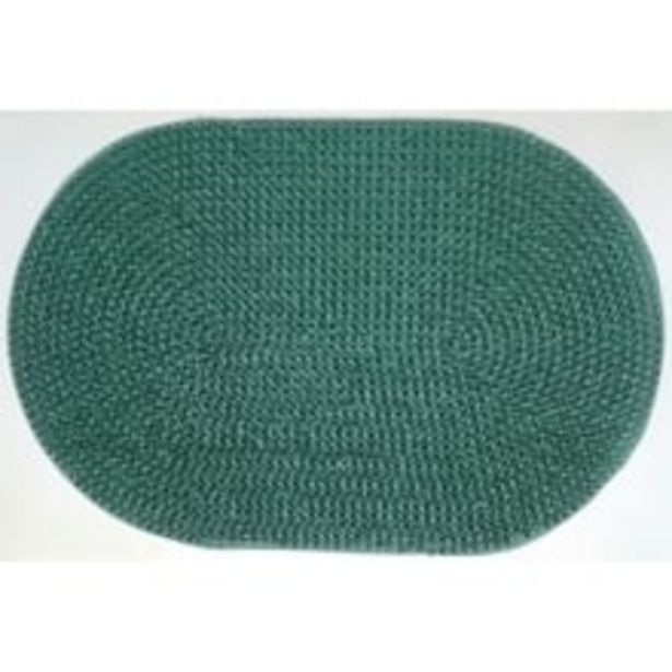 Easy Life 1 Piece Rubber Oval Outdoor Grass Mat - 40 x 60cm Green offer at ? 179.1