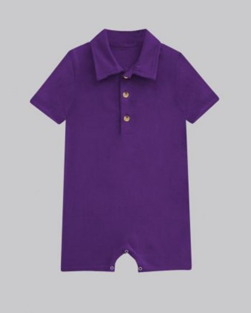 Purple Button Up Romper offer at ? 400