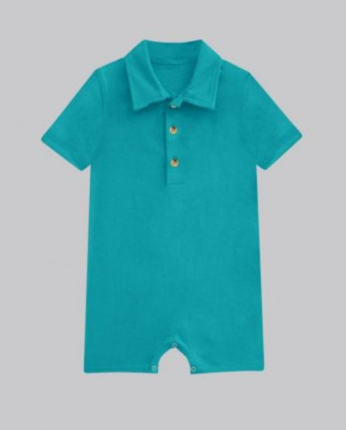 Teal Button Up Romper offer at ? 400