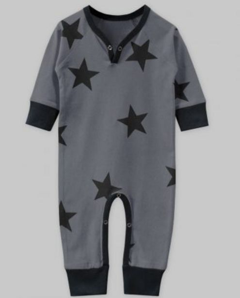 Charcoal Grey with Black Star Print Playsuit offer at ? 400