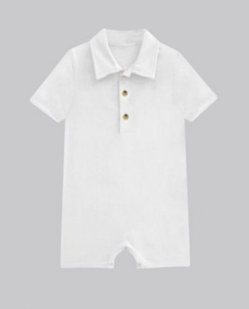 White Button Up Romper offer at ? 400