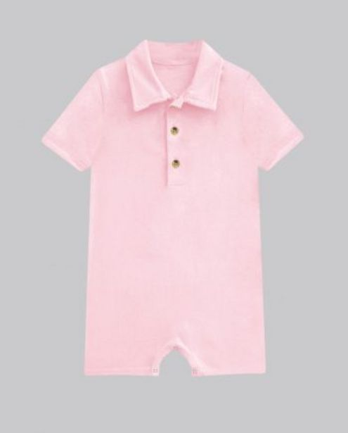 Soft Pink Button Up Romper offer at ? 400