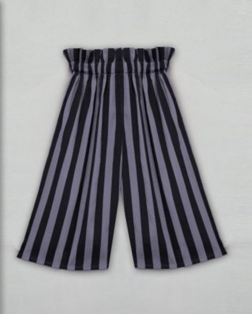 Charcoal Black Stripe Girls Palazzo offer at ? 449