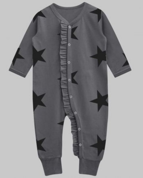 Charcoal Black Star Florence Ruffle Playsuit offer at ? 450