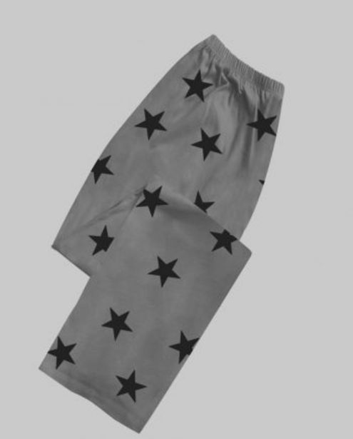 Charcoal Grey with Black Star Women's Pyjama offer at ? 599