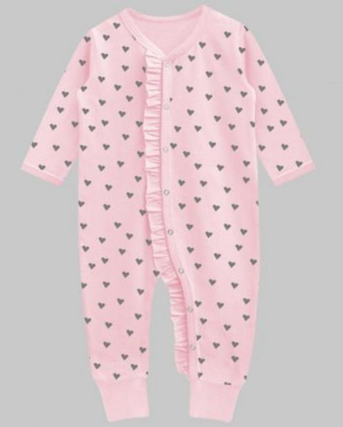 Soft Pink Charcoal Heart Florence Ruffle Playsuit offer at ? 450