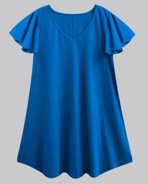 Royal Blue Flutter Sleeves Tunic offer at ? 450