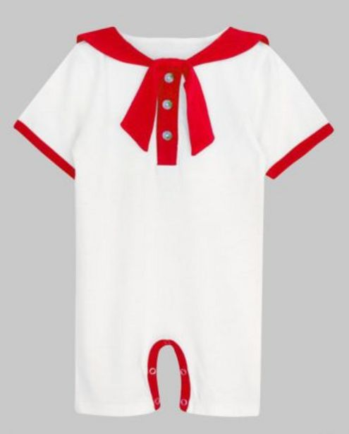 White with Red Binding Sailor Romper offer at ? 400